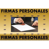 Registro De Firmas Personales. Documento Legal