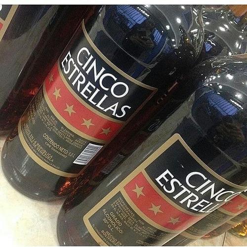 Licor De Ron Cinco Estrella 0.70 Y 1litro