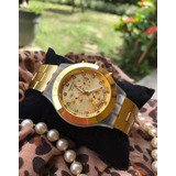 Reloj Dorados Swatch Para Damas, Michael Kors