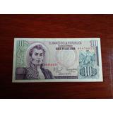 Billete De Coleccion De 10 Pesos Oro Colombianos Año 1979