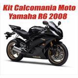 Kit Calcomanias Yamaha Yzf R6 Desde 2007 Al 2010