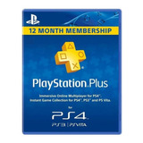 Playstation Plus 12 Mes Codigo Original Membresia Codigo Usa