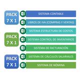 Sistema Contable +inventarios+facturación+costos 4x1