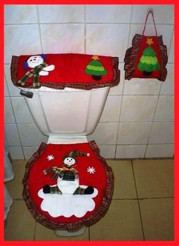 Lenceria De Baño Navidad:Kit Patrones Lenceria Navidad Juegos De Baños Muñecos Arbol BsF980