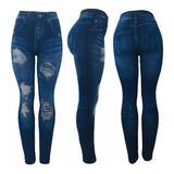 Leggins Tipo Jeans Pantalón Super Strech