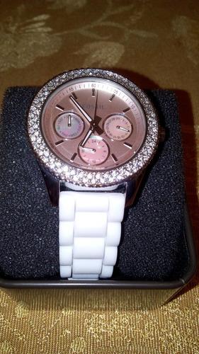 3065fc4c6273 Reloj Fossil Stella Blanco Dama 100% Orig