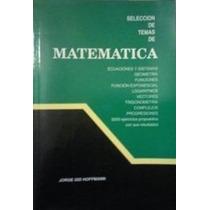 Libro, Selección De Temas De Matemáticas 4to Año De Hoffmann