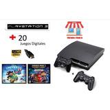 Ps3 Slim 320gb+ Controles + Juegos /tienda Física