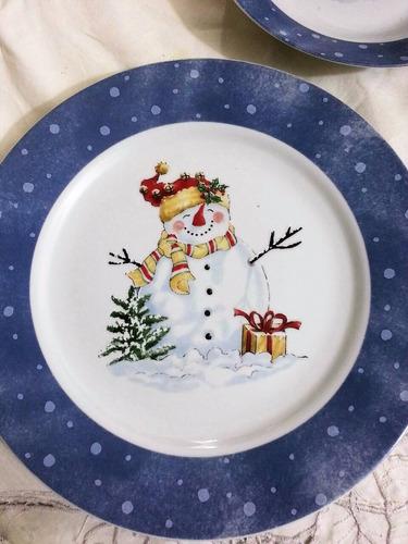 Vajilla de navidad 20 piezas 4 personas bs wfrrn - Vajilla de navidad ...