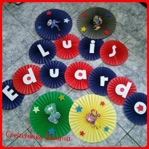 Rosetas o abanicos con figuras y letras decoraci n fiestas for Decoracion con abanicos