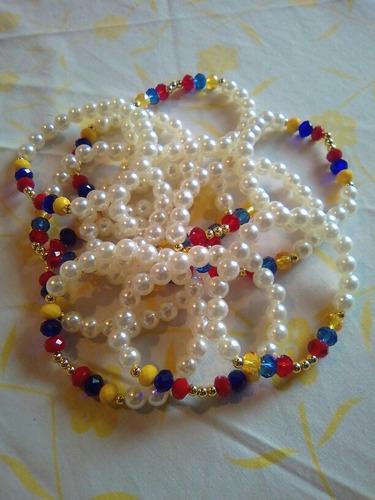 92d921cd1013 Pulceras Tricolor De Perlas De Venezuela
