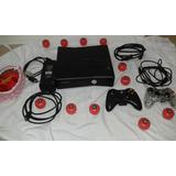 Consola Xbox 360 Con 2 Controles Chipeado Lee Copias