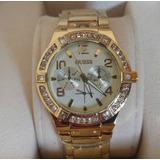 Reloj Swatch Dorado Acero Borde Acrilico