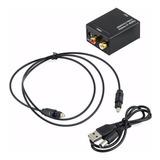 Convertidor Audio Optico Digital A Analogico Rca+cableoptico