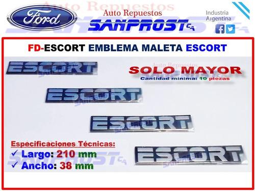 Emblema Maleta Escort (solo Mayor) C/u Foto 3