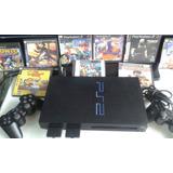 Playstation 2 Fat Chip 2 Controles 10 Juegos Garantizada