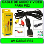 Cable Av Audio Y Video Para Ps1/ps2 Y Ps3 Rca Sellados Ng