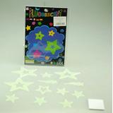 Estrellas Fluorescentes 13 Piezas Diferentes Tamaños Brillo