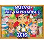Kit Imprimible Jake El Pirata Invitaciones + Candy Bar