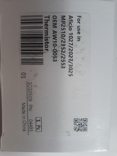 Termistor Ricoh Aw10-0052 /53/73 Ricoh 1035 1045 2045 2020