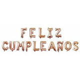 Globos Metalizados Feliz Cumpleaños Y Numeros Combos