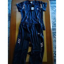 Conjunto Deportivo Adidas Climacool De Damas Original Licras