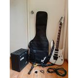 Guitarra Eléctrica, Amplificador Y Diversos Accesorios