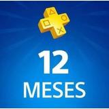 Playstation Plus 12 Meses Psn Plus Codigo Psn Play