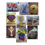 Trofeos Premios En Acrilico Vitrificados Y Grabados A Laser