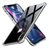Estuche iPhone Xr Transparente Esquinas Antishock