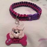 Collar Para Mascota Perro Y Gato Cord Con Dije Personalizado