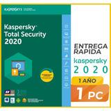 Kaspersky Total Security 1 Pc  1 Año  Licencia Original