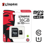 Memoria Micro Sd 16 Gb Kingston Clase 10 Original Chacao