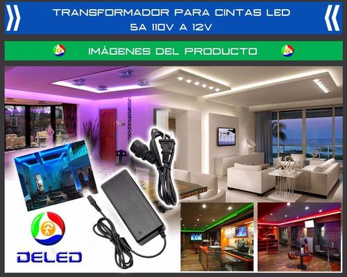 Transformador para led 5a 120vac 12vdc fuente de poder bs for Transformador para led