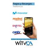 Recargas Movistar Digitel Directv Movilnet Cantv Inter Netun