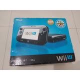 Wii U Deluxe Set 32gb Negro Con Gamepad 6 Juegos