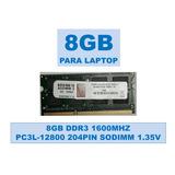 Memoria De 8gb Ddr3 1600mhz De Bajo Voltaje Para Portátiles