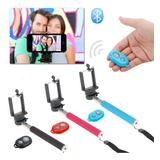 Monopod Selfie Stick Palo Extendible Con Control Bluetooth