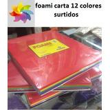 Foami Foamy Tamaño Carta 22cx28cmx2m Paq 12unidades Variado