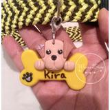 2 Dijes, Medallas Para Collar De Mascotas Con Su Nombre