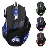 Mouse Gamer 5500 Dpi Con Cable Usb