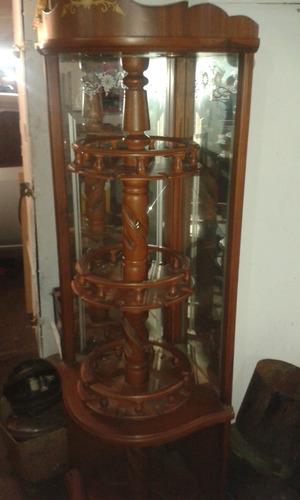 Mueble vitrina bar exhibidor ideal para licores y es for Mueble vitrina