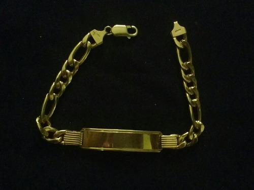 01c6102a0560 Pulsera Esclava De Oro Italiano 18k (ley750) Caballero