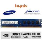 Memoria Ram 4gb Pc3-12800 Ddr3 1600mhz Dimm