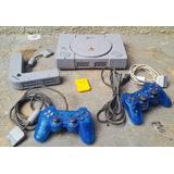 Combo Play Station 1 Ps1 Fat + Control + Memory Card Y Mas