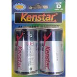 Pila  Batería Alkalina Tipo D 1.5 V   Marca: Kenstar (par)