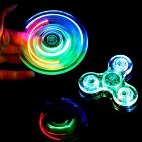 Fidget Spinner Con Luces Transparente Detal Y Mayor