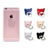 6 Pop Socket Soporte De Anillo Para Telefono  Gato