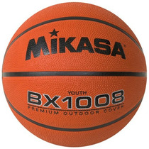 Balon Basket Mikasa Bx1008 Youth, Premium Outdoor Cover Goma