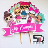 Topper Cupcakes Personalizados 1 Docena + Topper Torta Lol